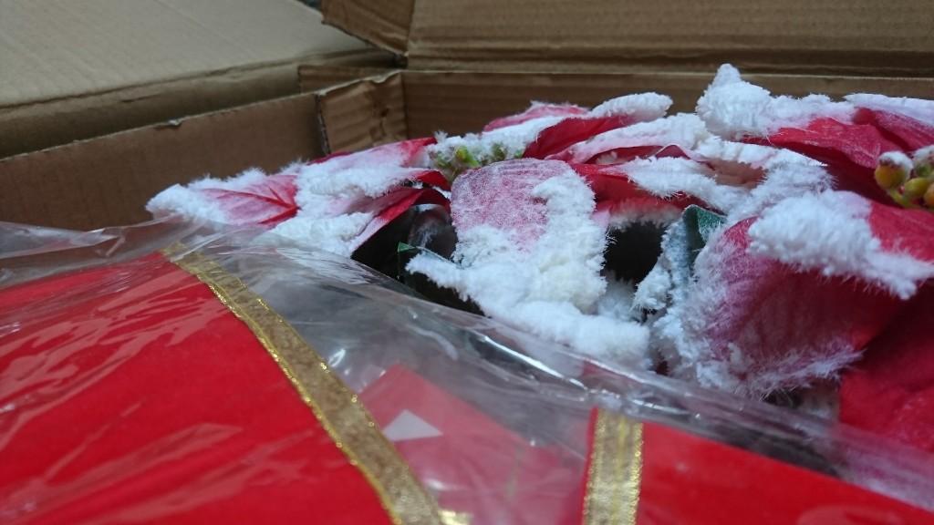 今年のクリスマスインテリアのアイテムが届きました(^-^)